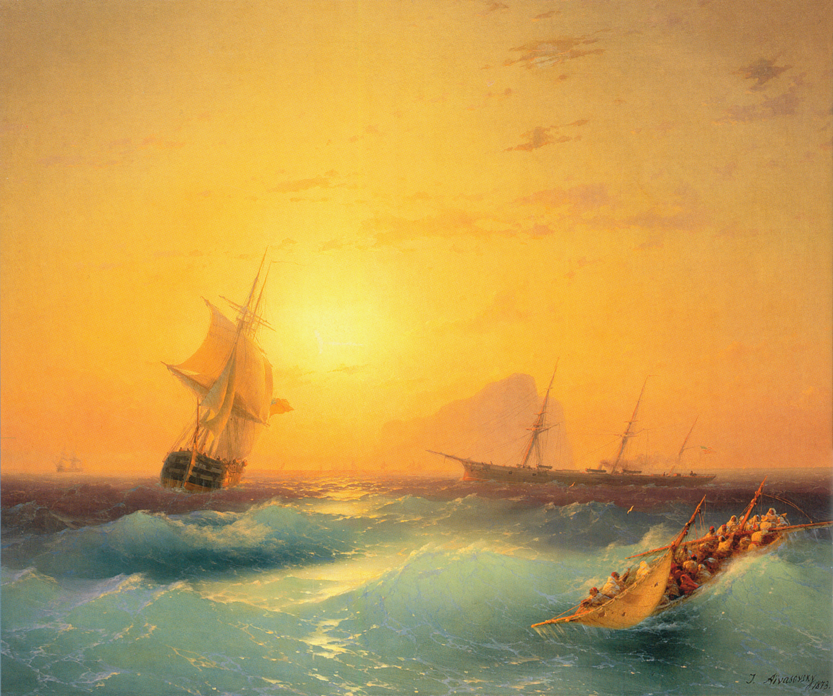American Shipping off the Rock of Gibraltar (1873), oil on canvas, 70 x 58.5 cm